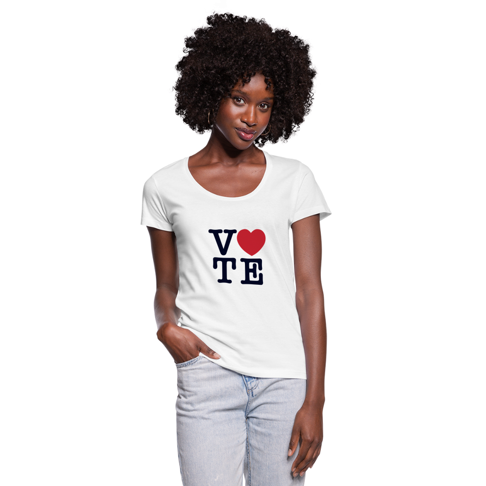 Vote Love - Women's Scoop Neck T-Shirt - white