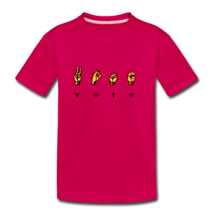 Sign - Kids' Premium T-Shirt - dark pink