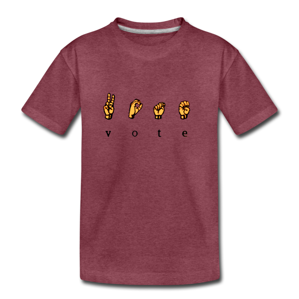 Sign - Kids' Premium T-Shirt - heather burgundy