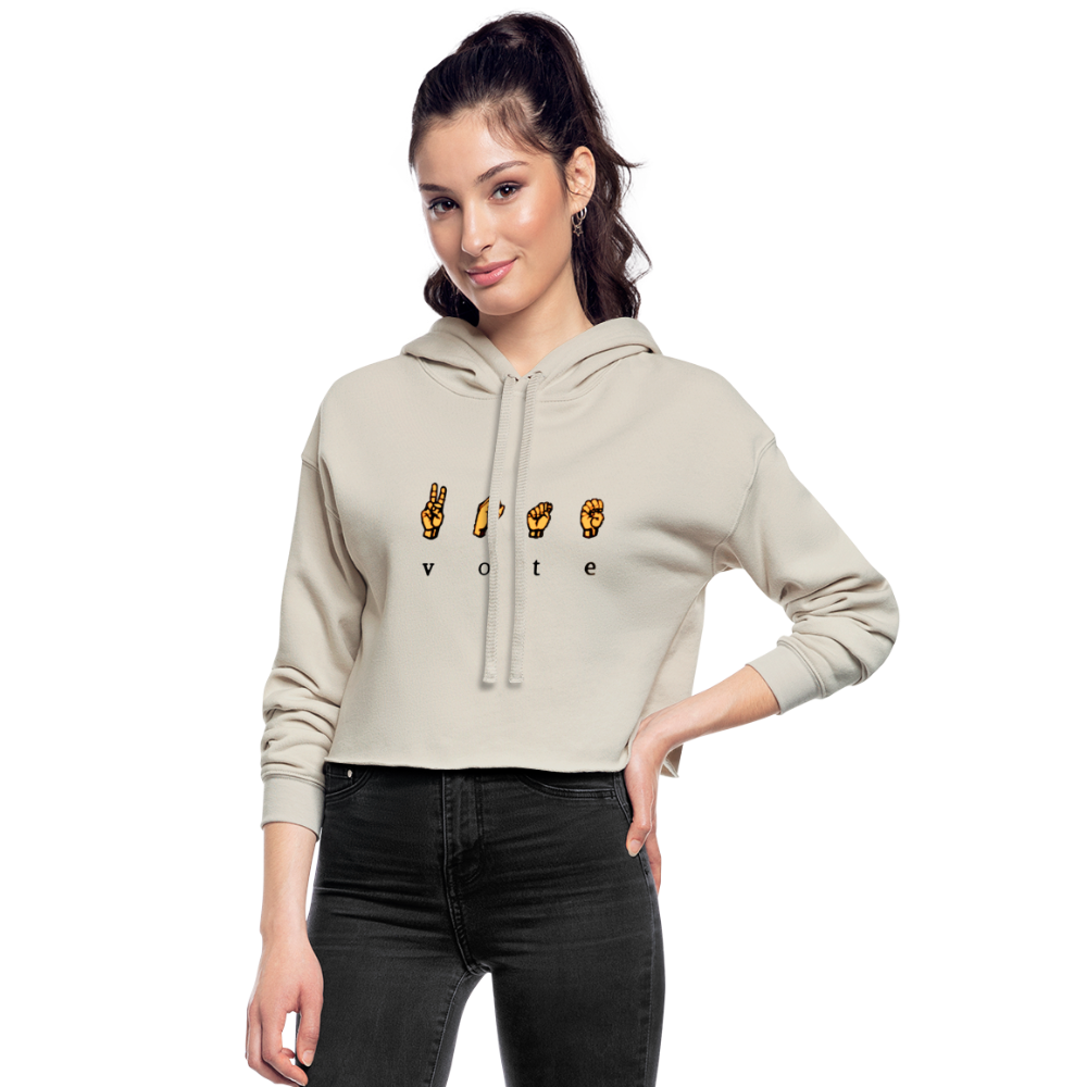 Sign - Women's Cropped Hoodie - dust