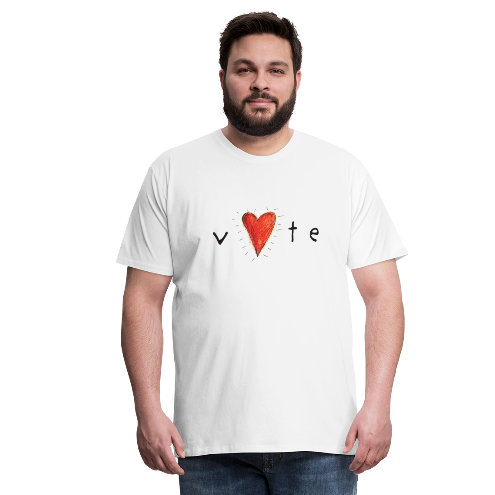 Hearbeat - Men's Premium T Shirt - white