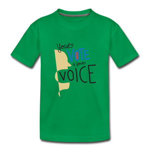 Shout II - Kids' Premium T-Shirt - kelly green
