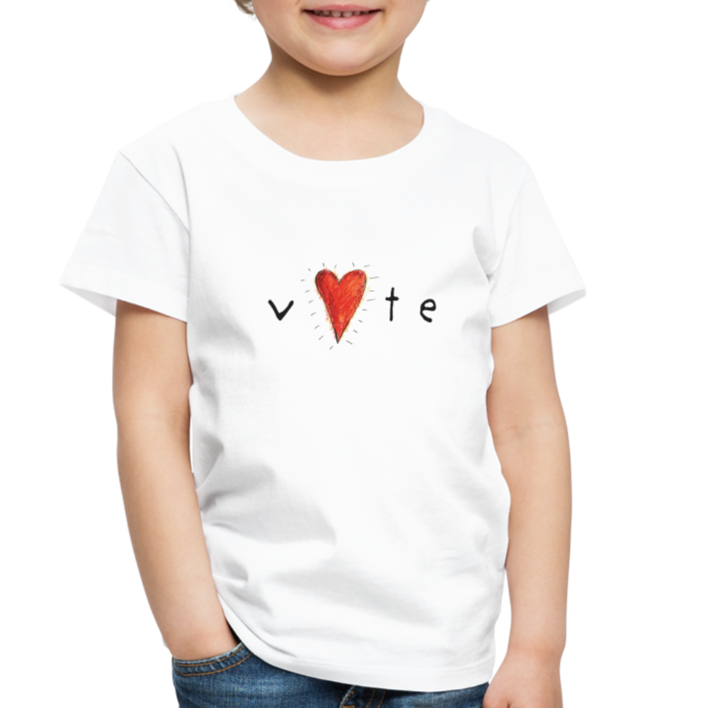 Heartbeat - Toddler Premium T-Shirt - white