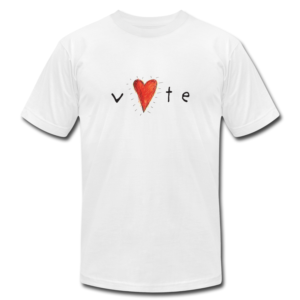 Heartbeat - Unisex Jersey T-Shirt by Bella + Canvas - white