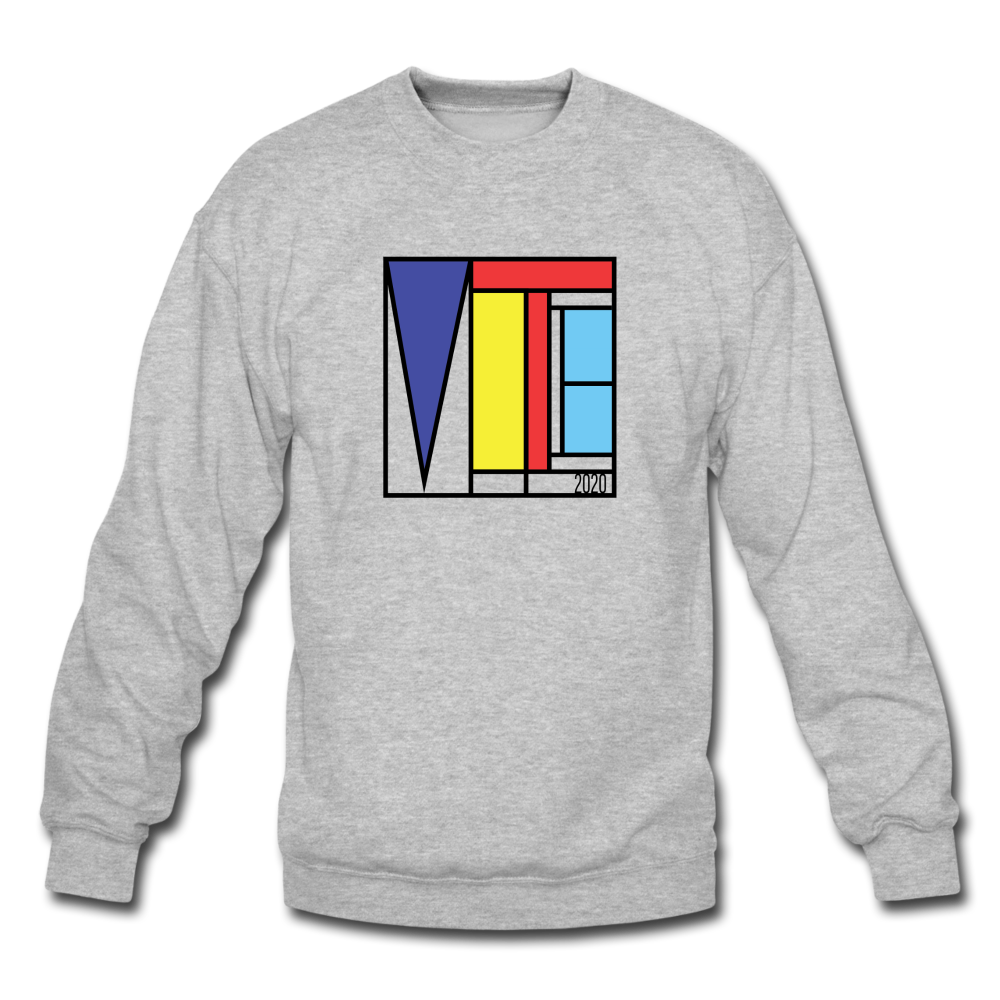 Vote Art - Crewneck Sweatshirt - heather gray