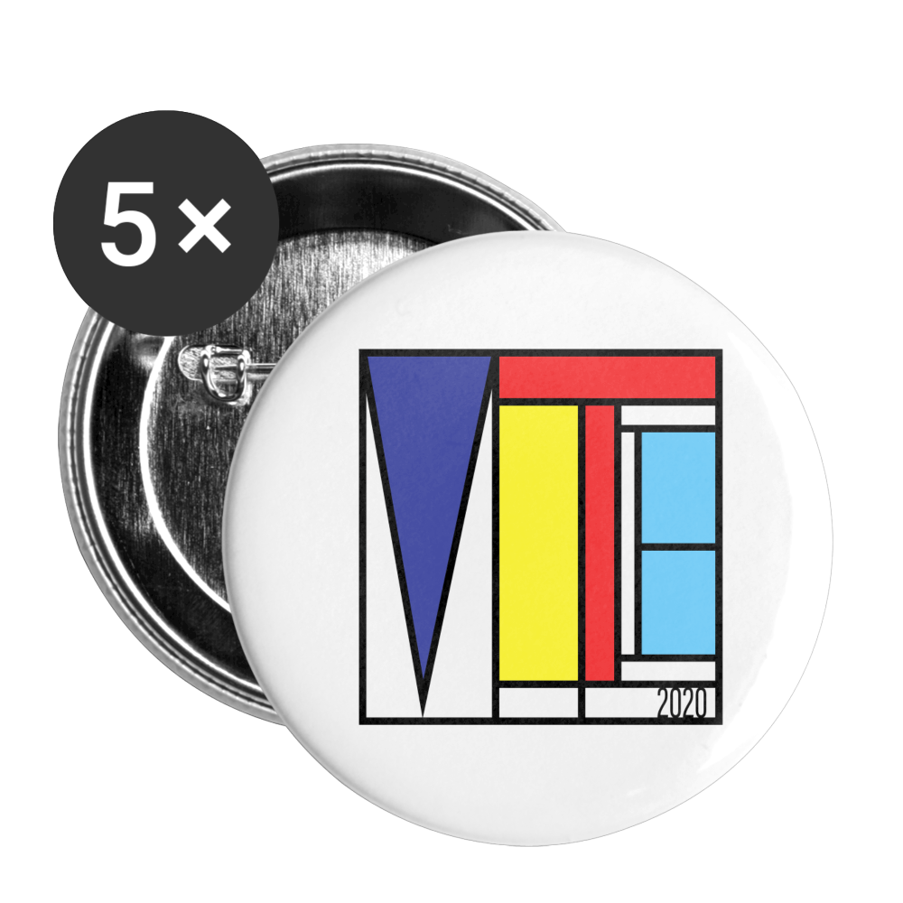 Vote Art - Buttons large 2.2'' (5-pack) - white