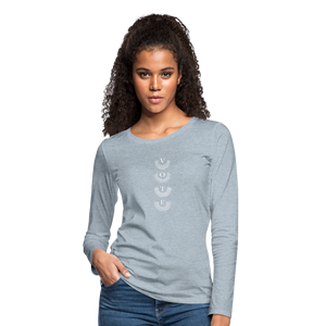 Fervent Wish  - Women's Premium Long Sleeve T-Shirt - heather ice blue