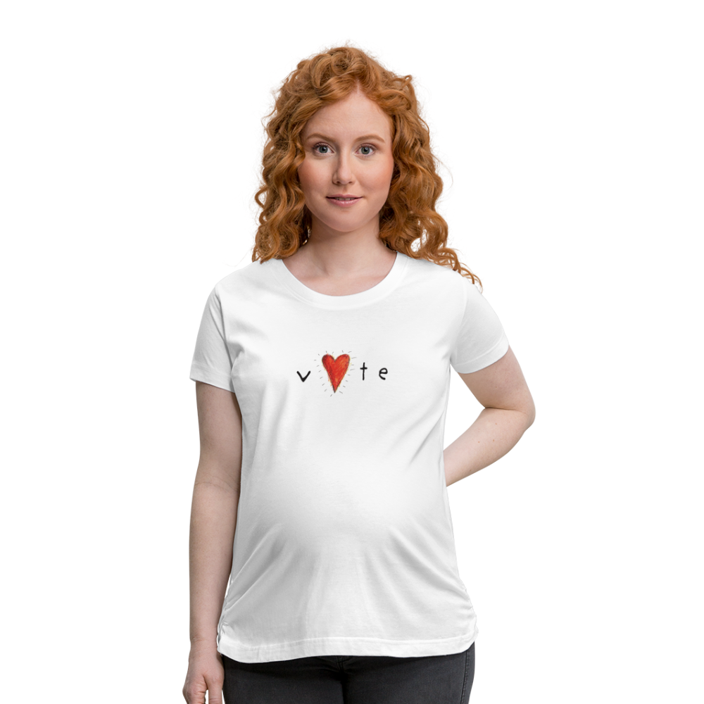 Heartbeat  - Women's Maternity T-Shirt - white