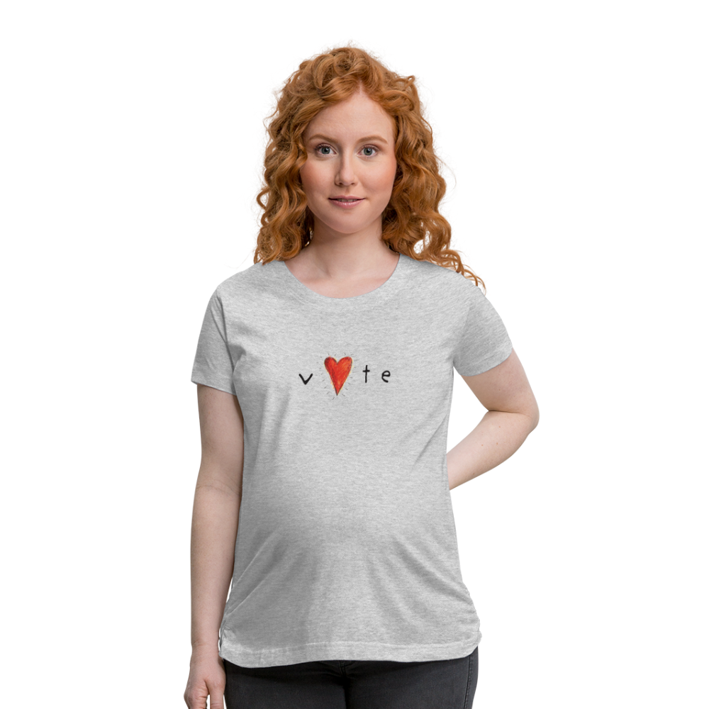 Heartbeat  - Women's Maternity T-Shirt - heather gray