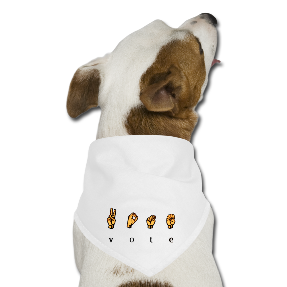 Sign - Dog Bandana - white