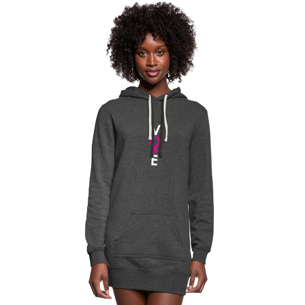 She Votes - Women's Hoodie Dress - front - heather black