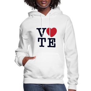 Vote Love - Women's Premium Hoodie - white