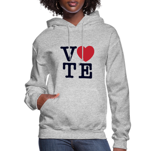 Vote Love - Women's Premium Hoodie - heather gray