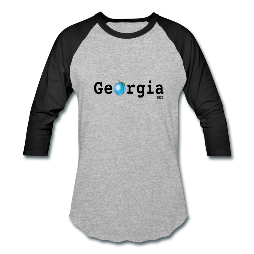Georgia Blue - Baseball T-Shirt - heather gray/black