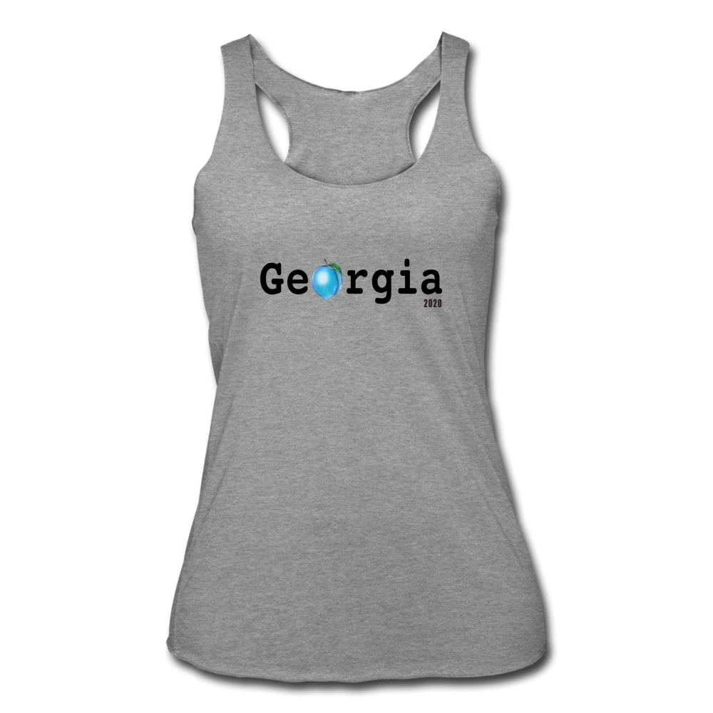 Georgia Blue  - Women's Tri-Blend Racerback Tank - heather gray
