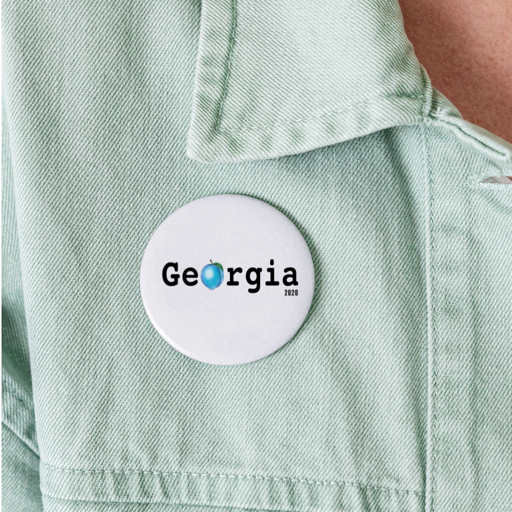 Georgia Blue - Buttons large 2.2'' (5-pack) - white