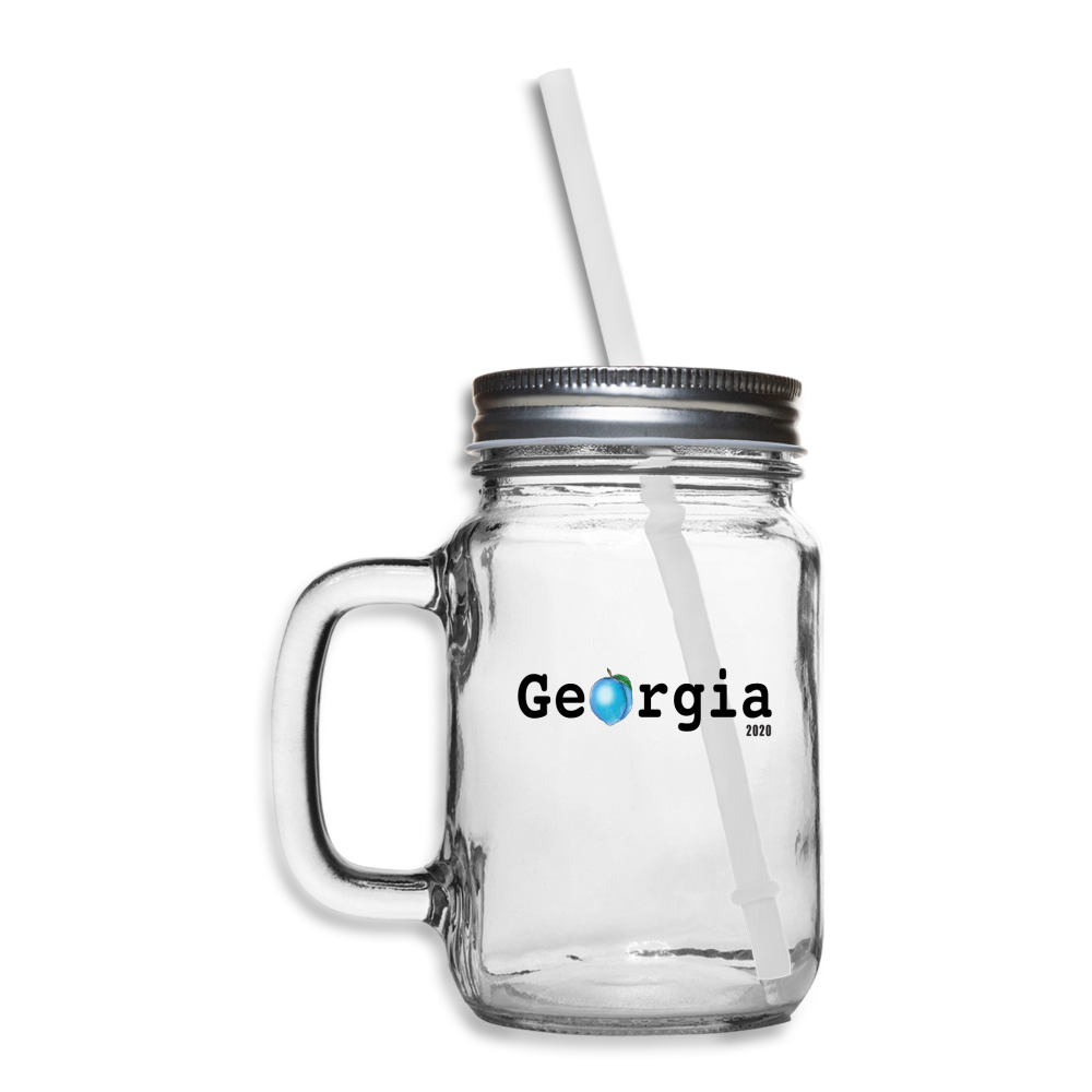 Sweet Georgia Blue Mason Jar - clear
