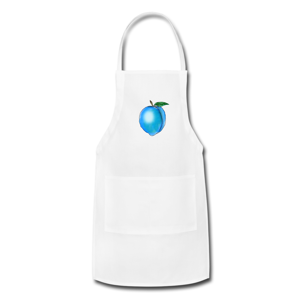 Georgia Blue - Adjustable Apron - white