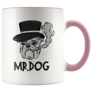 Mr. Dog Ceramic White Accent Mug