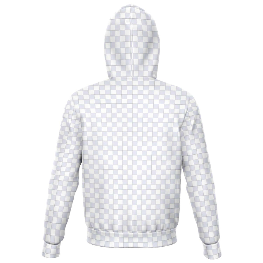 Lavender & White Checkered Zip-up Hoodie