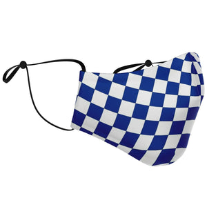 Blue and White Checkered Face Mask