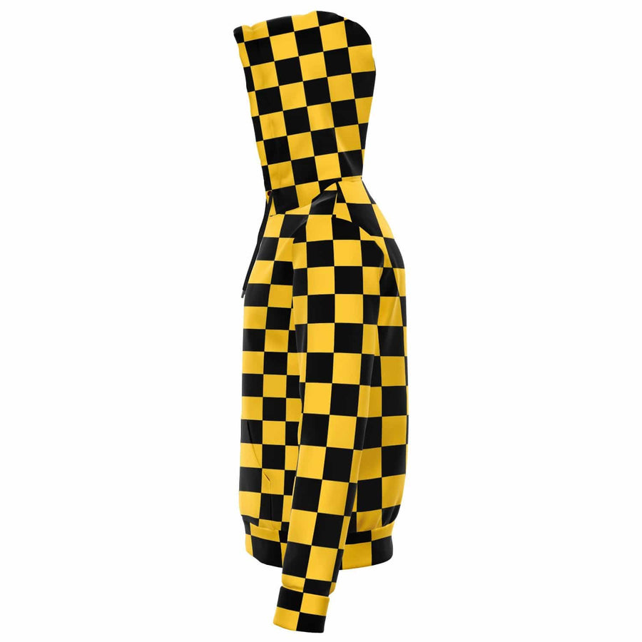 Taxi Checkered Zip-up Hoodie