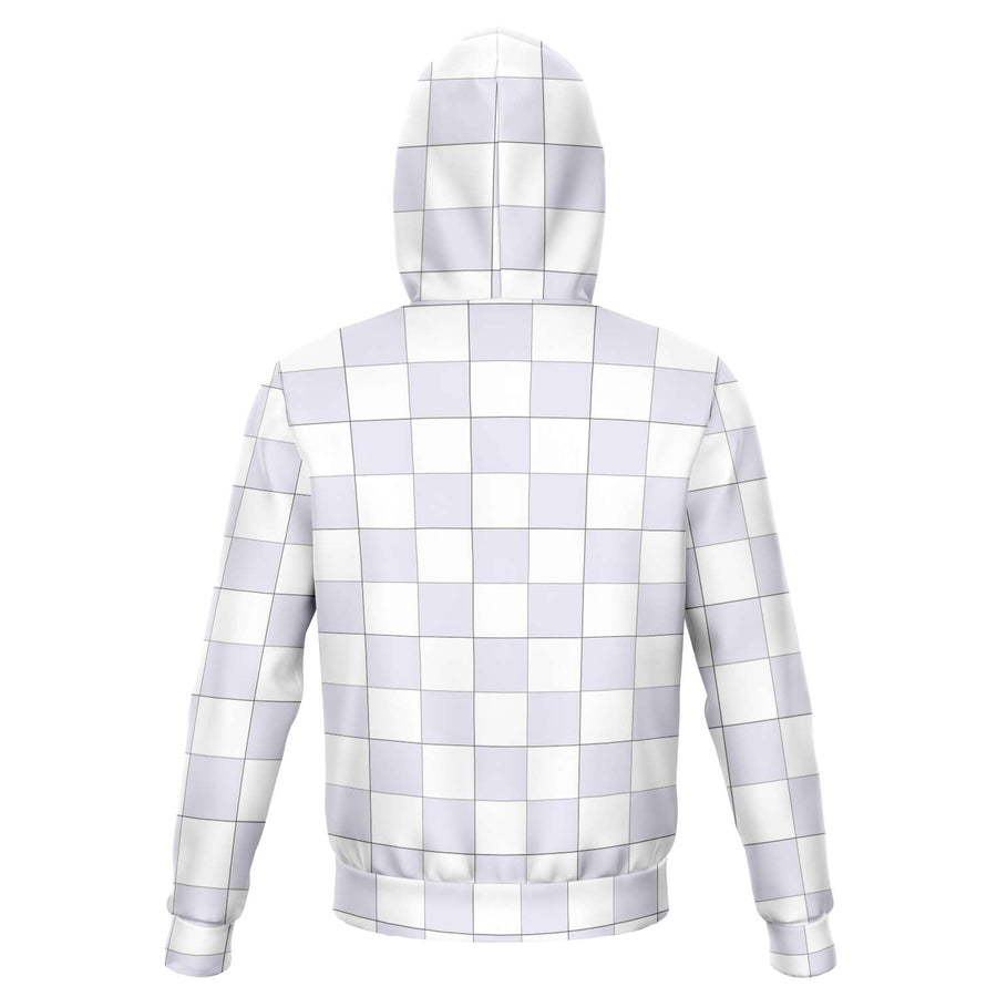 Lavender & White Checkered Hoodie