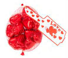 Load image into Gallery viewer, Hearts - Milk Chocolate 77g bag - Red Foil Hearts