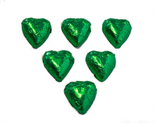 Load image into Gallery viewer, Hearts - Milk Chocolate Hearts in Green Foil
