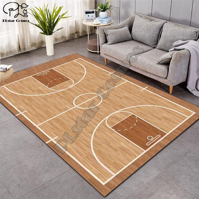 Carpet 3D Basketball Larger Mat Flannel Velvet Memory soft Rug Play Game Mats Baby Craming Bed Area Rugs Parlor Decor 015