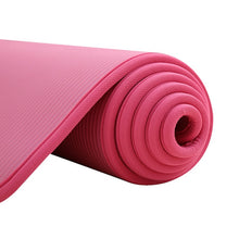 Load image into Gallery viewer, 10MM Extra Thick 183cmX61cm High Quality NRB Non-slip Yoga Mats For Fitness Tasteless Pilates Gym Exercise Pads with Bandages