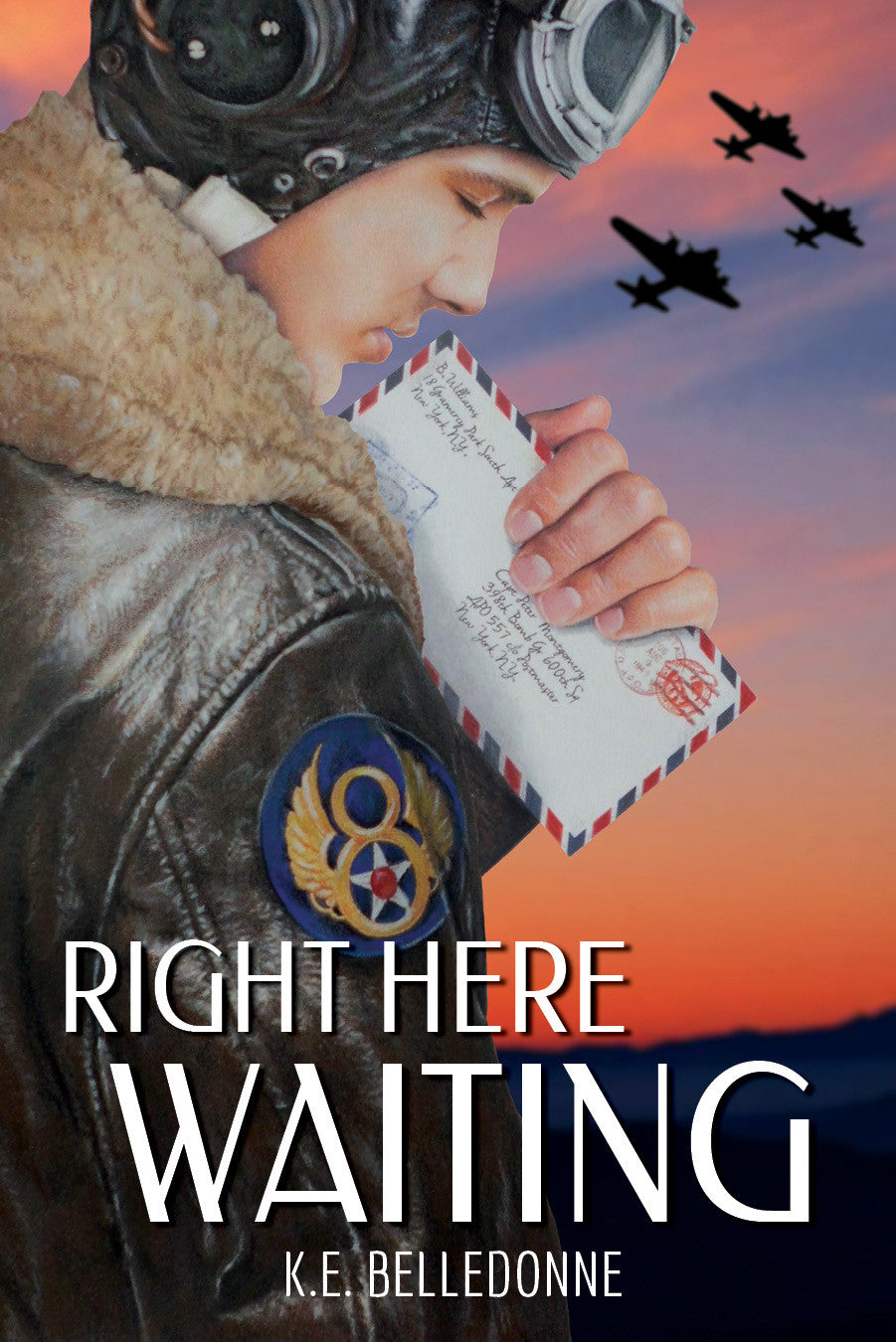Right Here Waiting by K.E. Belledonne (printed book)