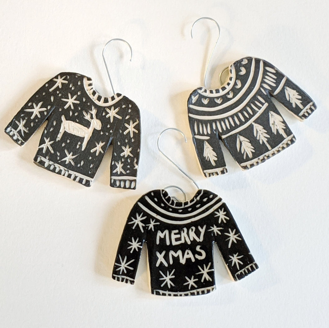 Black Sweater Ornament
