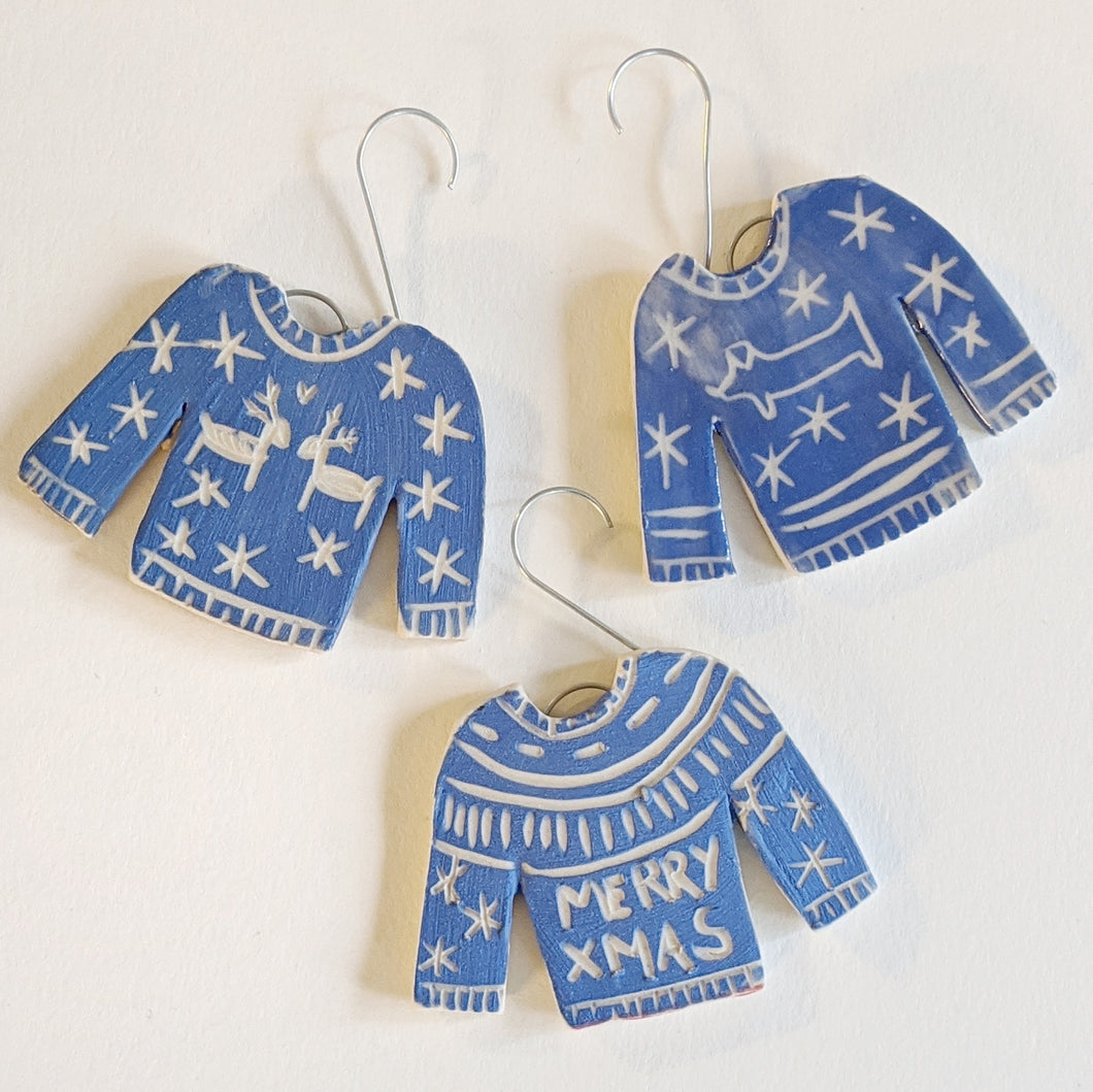 Blue Sweater Ornament