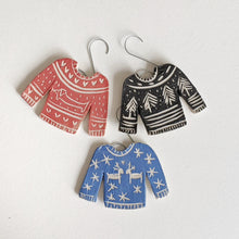 Load image into Gallery viewer, Blue Sweater Ornament