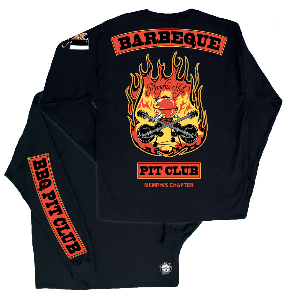 Barbeque Pit Club: Memphis Style Long Sleeve T-Shirt