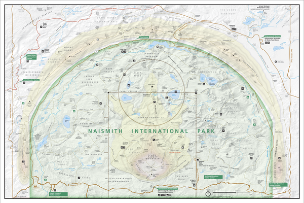 "Enhanced Naismith International Park Map 24"" x 36"""