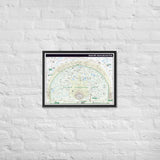 "Naismith International Park Map 18 x 24"" Framed"