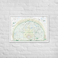"Naismith International Park Map 24 x 36"" Framed"