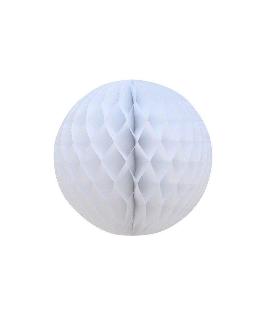 "12"" White Honeycomb Ball - Oh Happy Day"