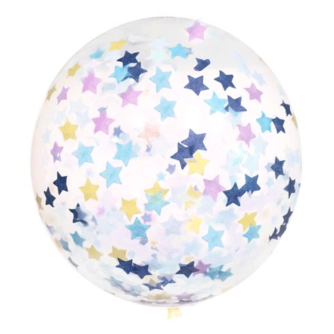 "Confetti Balloon 18"" Stars & Good Fortunes"