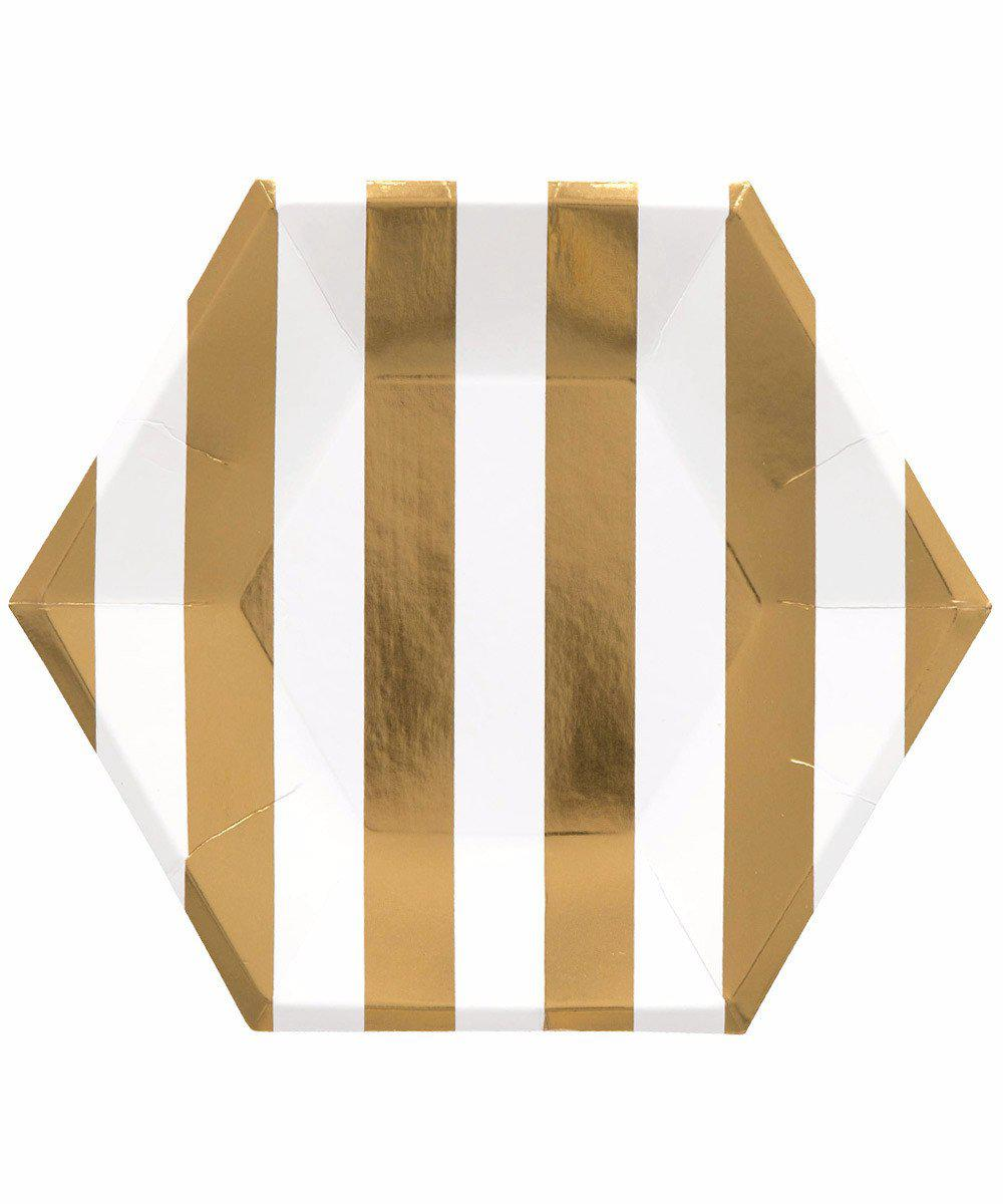 Gold Stripe Party Plates
