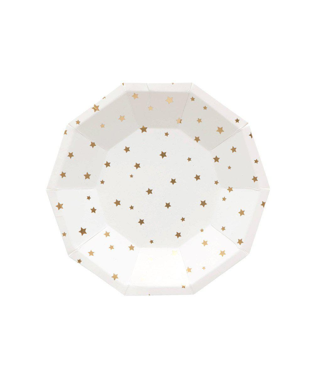 Gold Star Party Plates (Small)