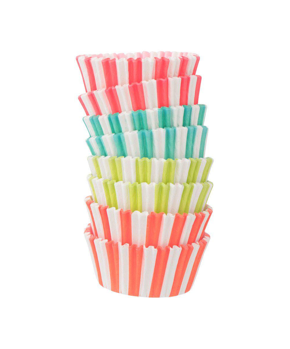 Cupcake Liners Neon Stripe