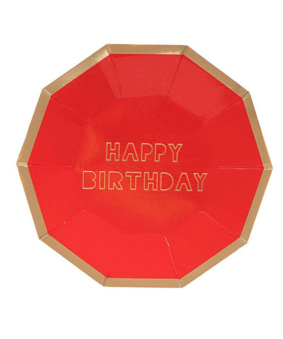 Happy Birthday Plates (Large)