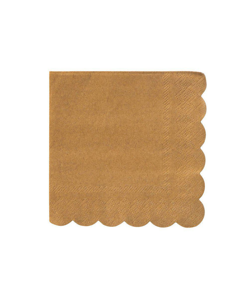 Kraft Scalloped Napkins by Meri Meri