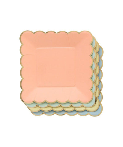 Pastel Scallop Plates (Small)
