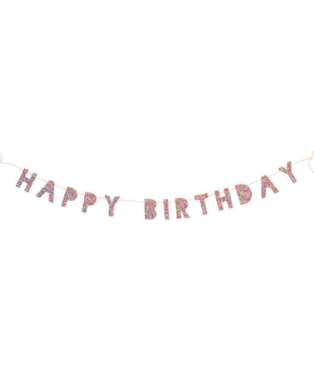 Mini Glitter Birthday Garland