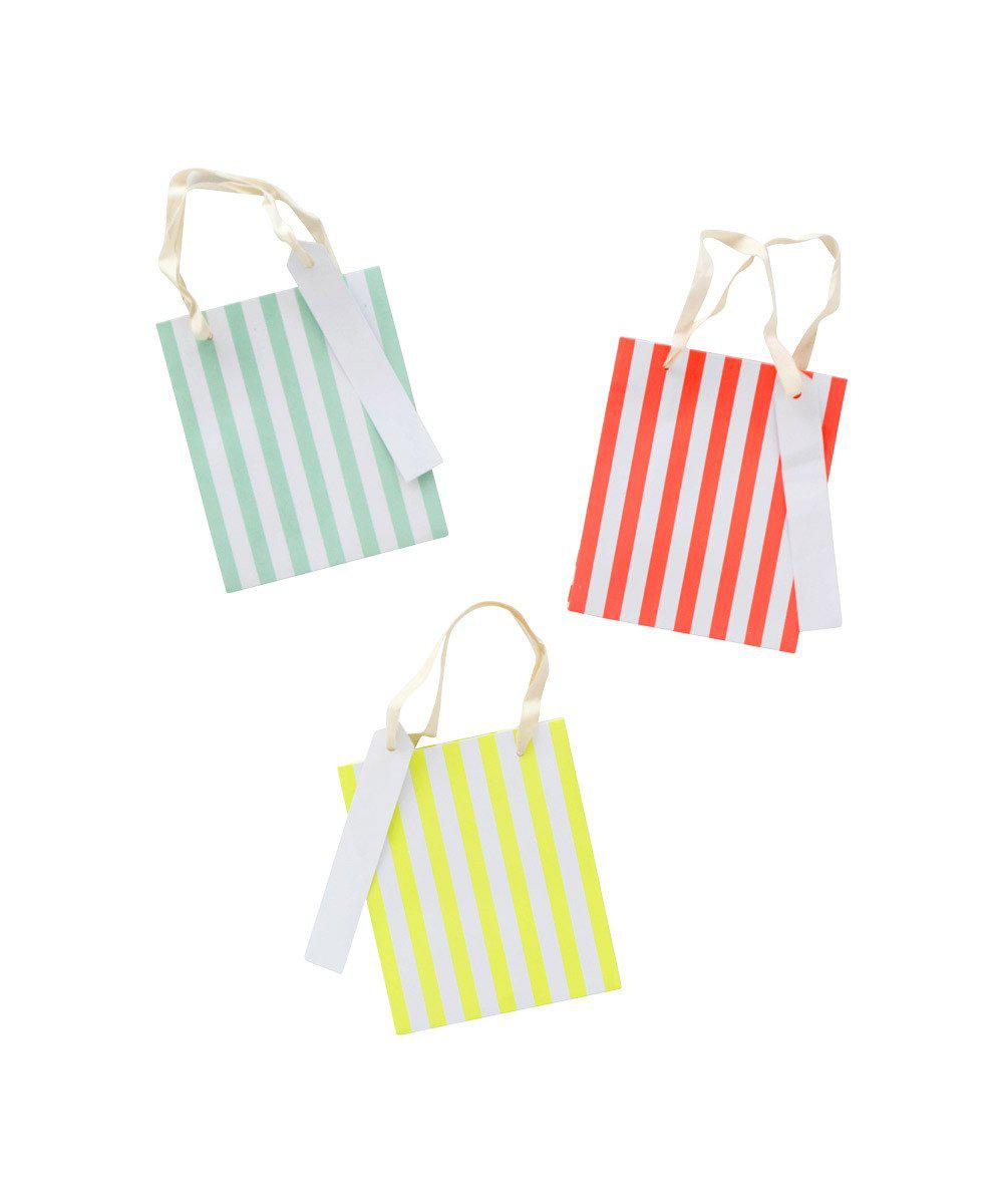 Neon Stripe Favor Bags