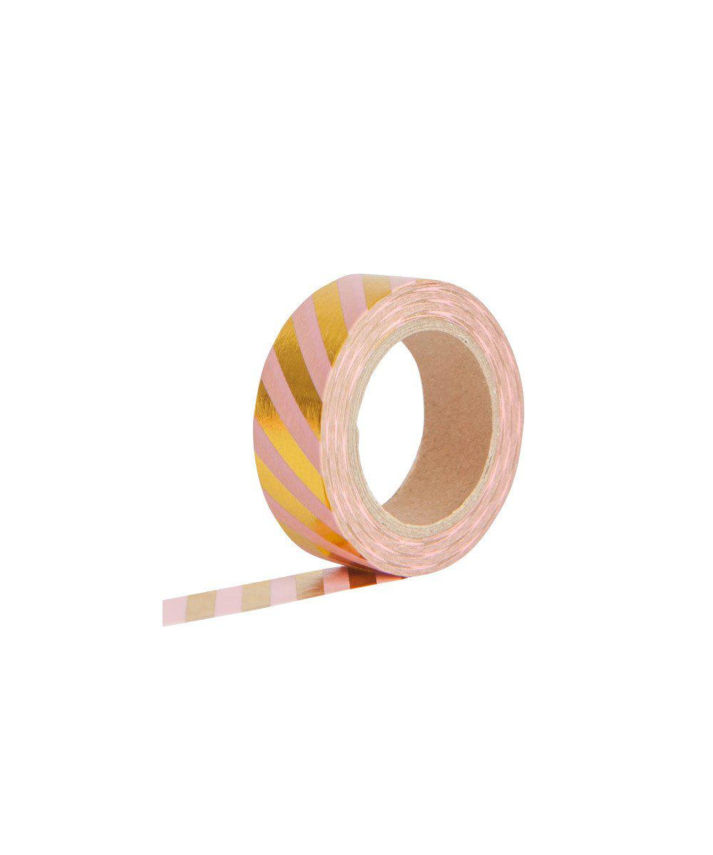 Pink & Gold Stripe Tape